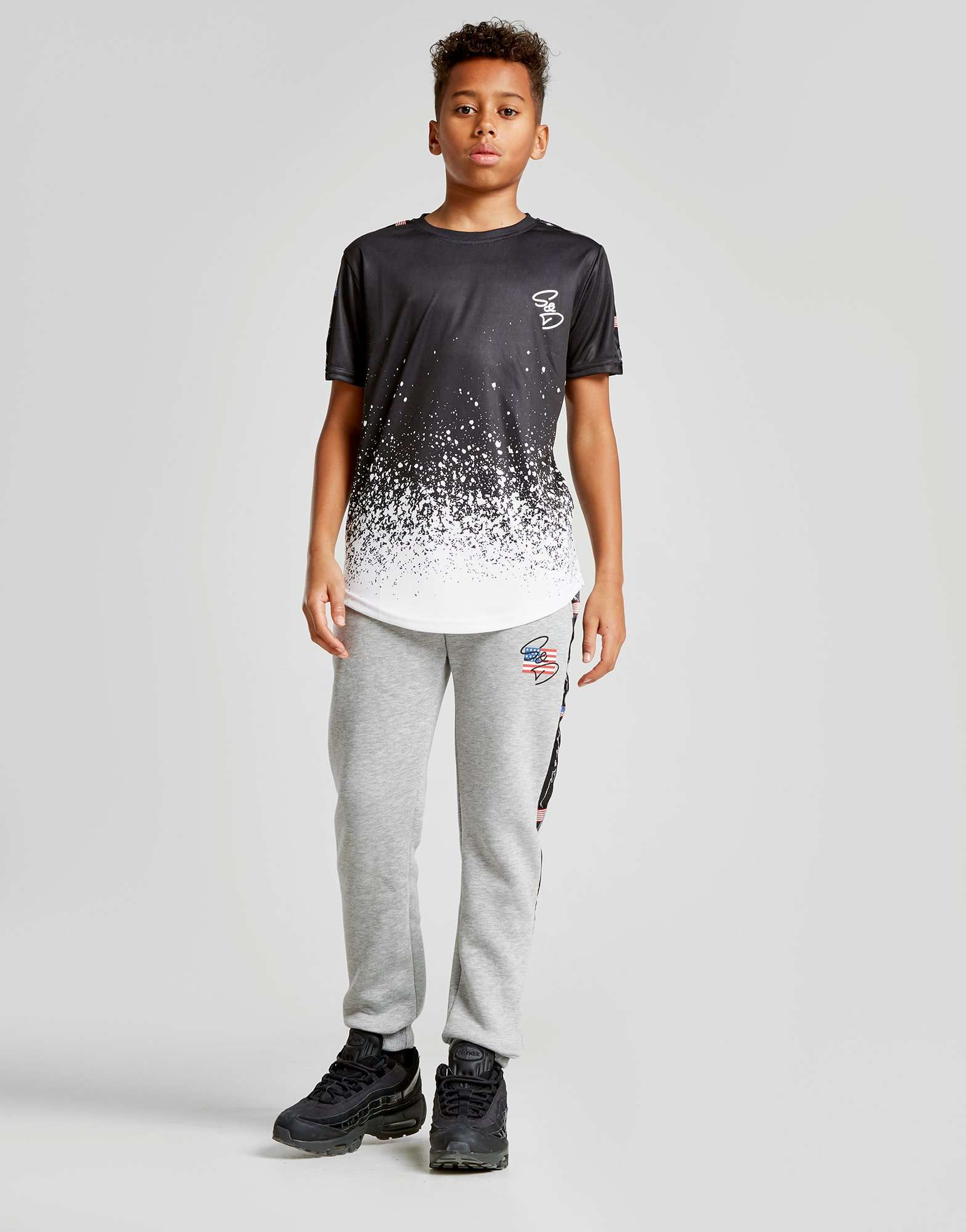 Supply & Demand Snow Fade T-Shirt Junior