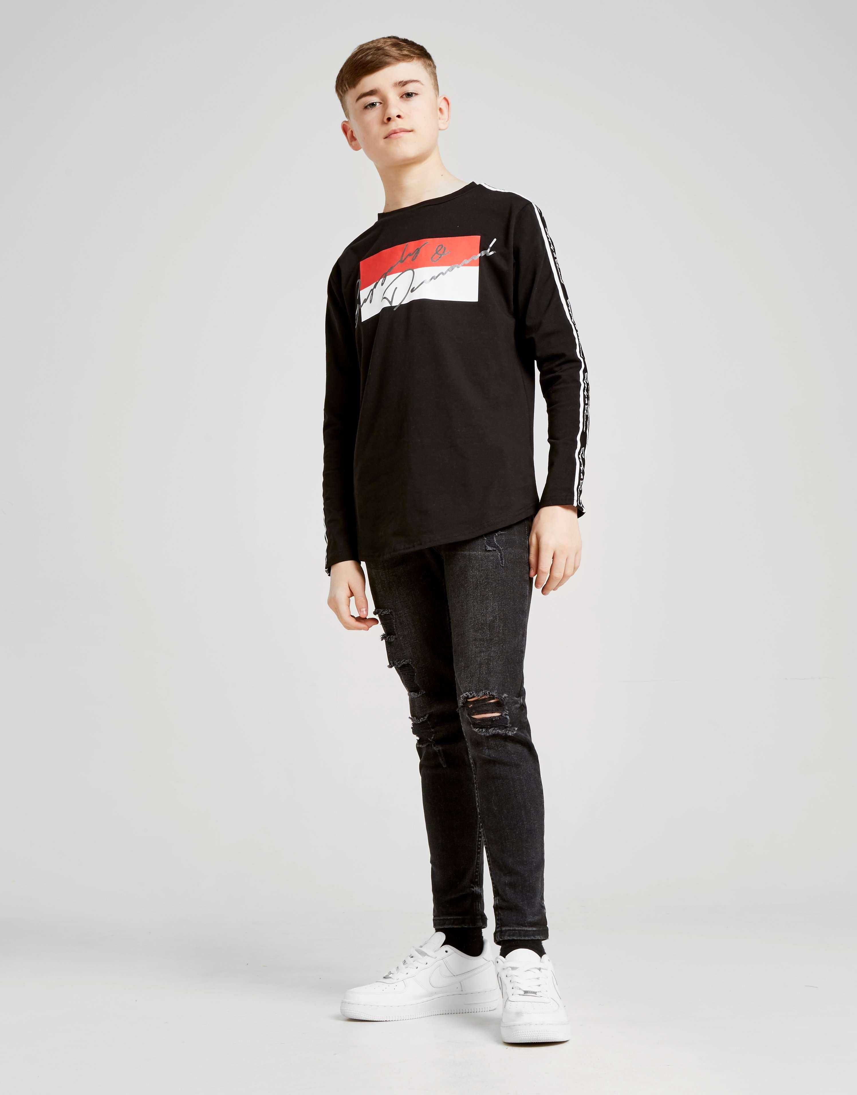 Supply & Demand Script Tape Long Sleeve T-Shirt Junior