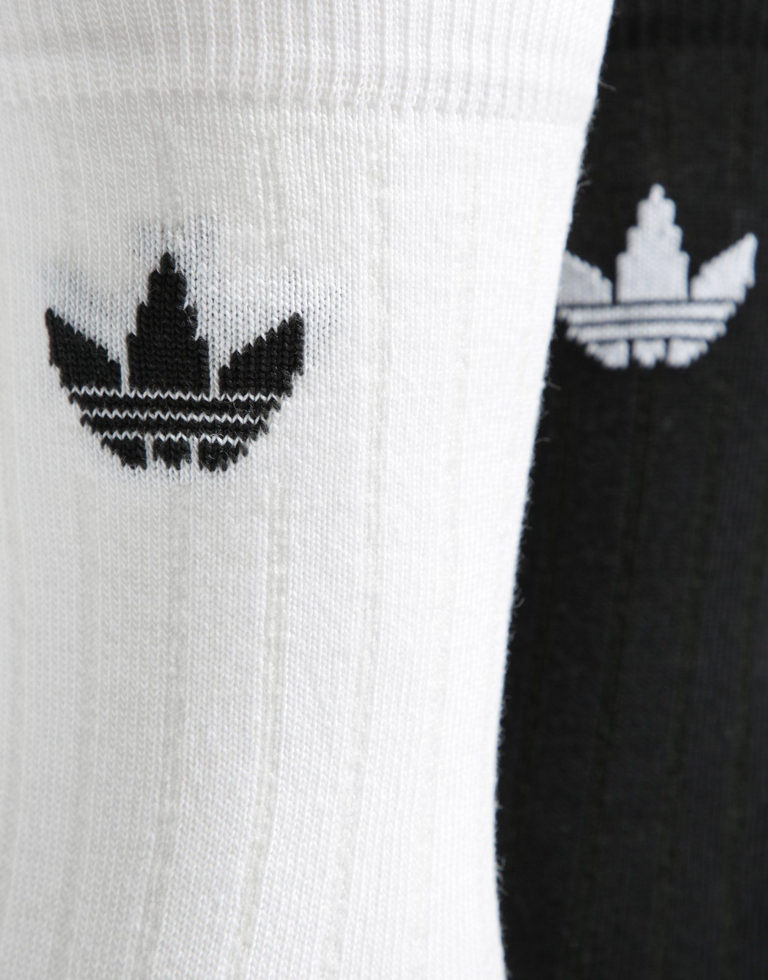 adidas Originals 2 Pack Mid Solid Crew Rib Socks