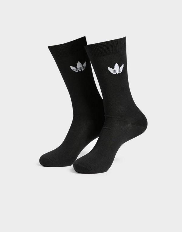 ae8a0c25fffc00 adidas Originals 2 Pack Thin Trefoil Crew Socks