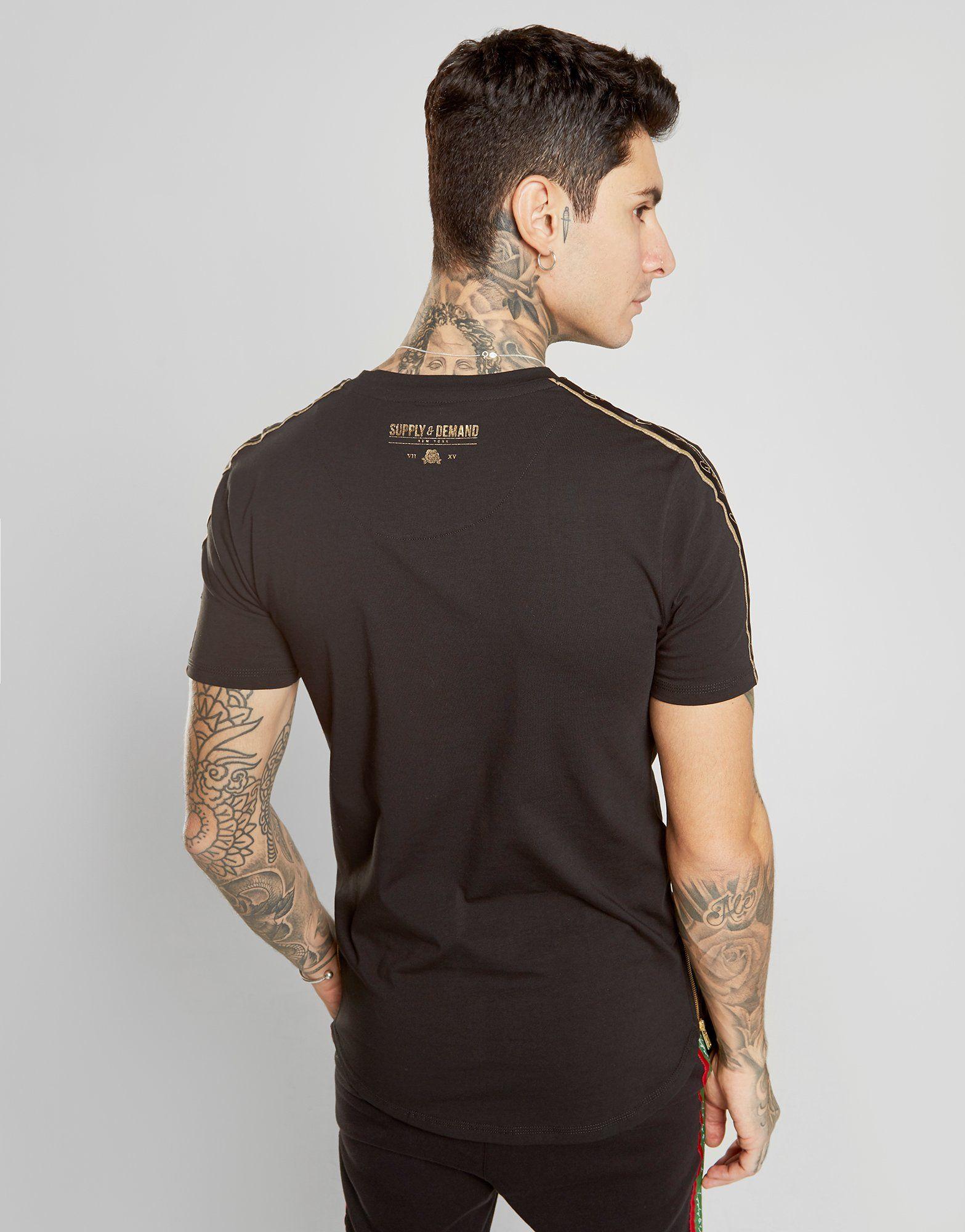 Supply & Demand Script Foiled T-Shirt