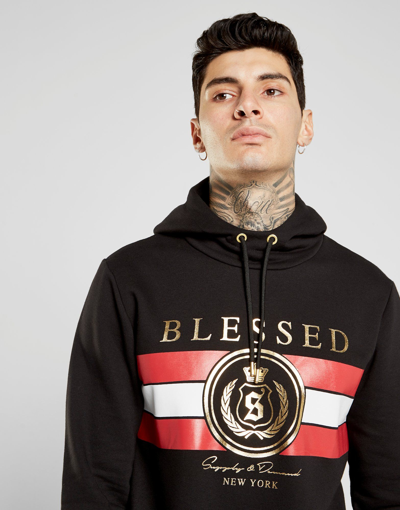 Supply & Demand Blessed Gold Foil Overhead Hoodie