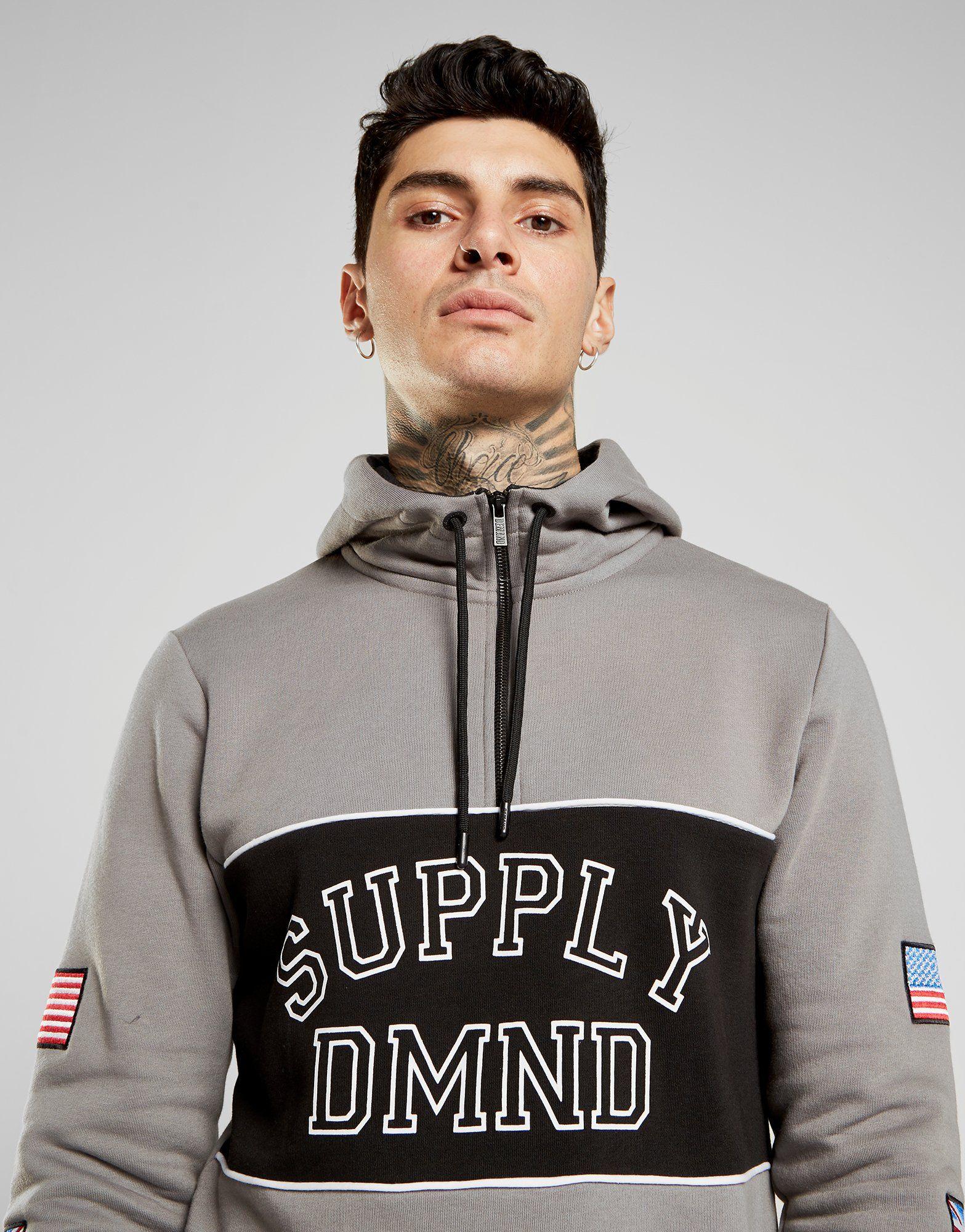 Supply & Demand Varsity Flag 1/2 Zip Hoodie