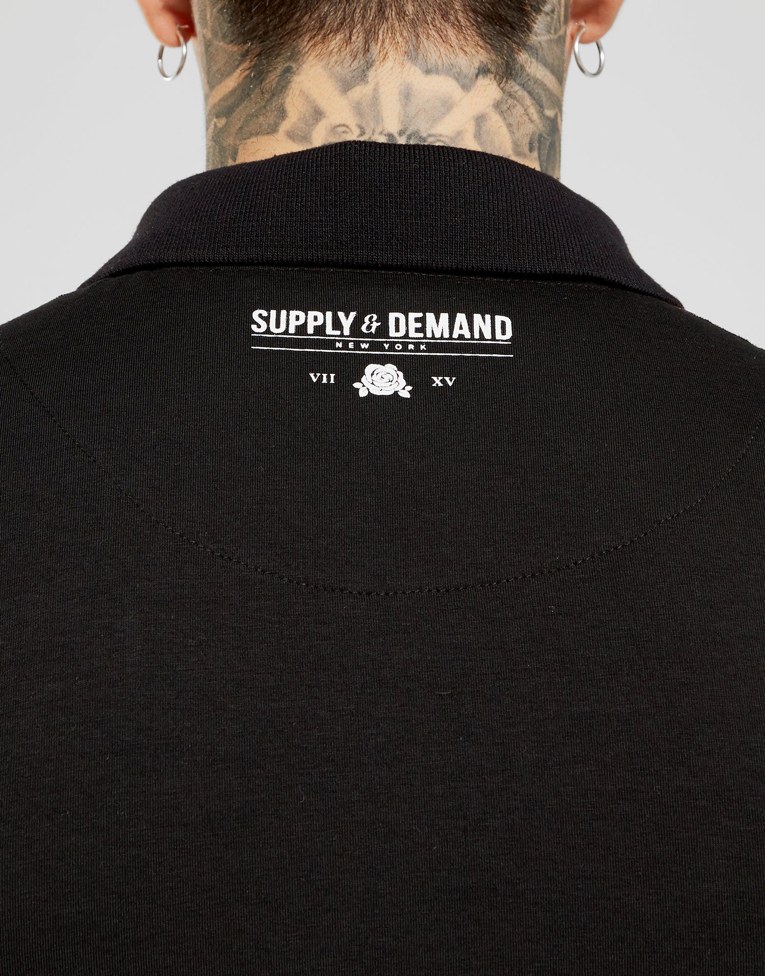 Supply & Demand Script Tape Polo Shirt