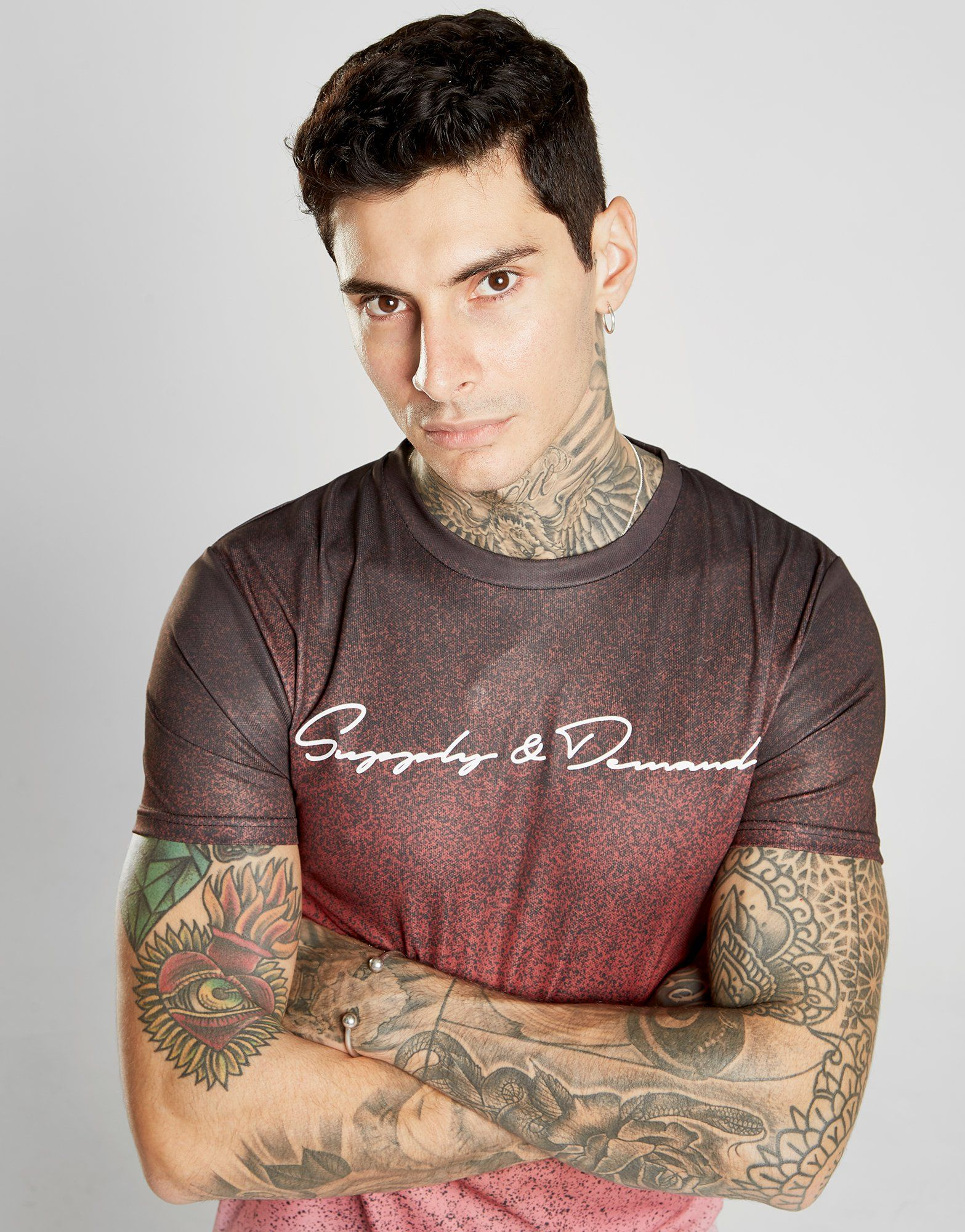 Supply & Demand Red Haze Despeckled T-Shirt