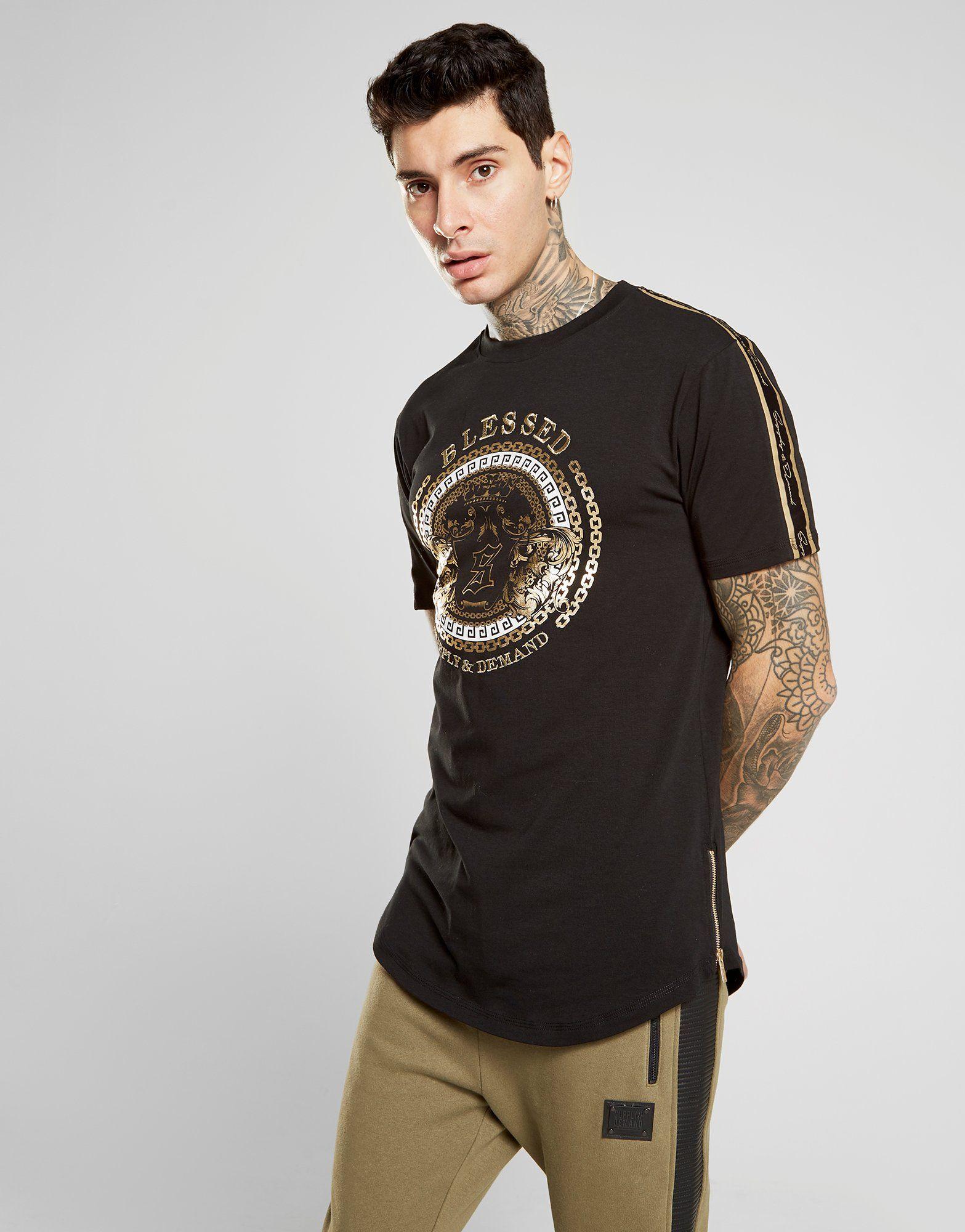 Supply & Demand Script Tape Baroque T-Shirt