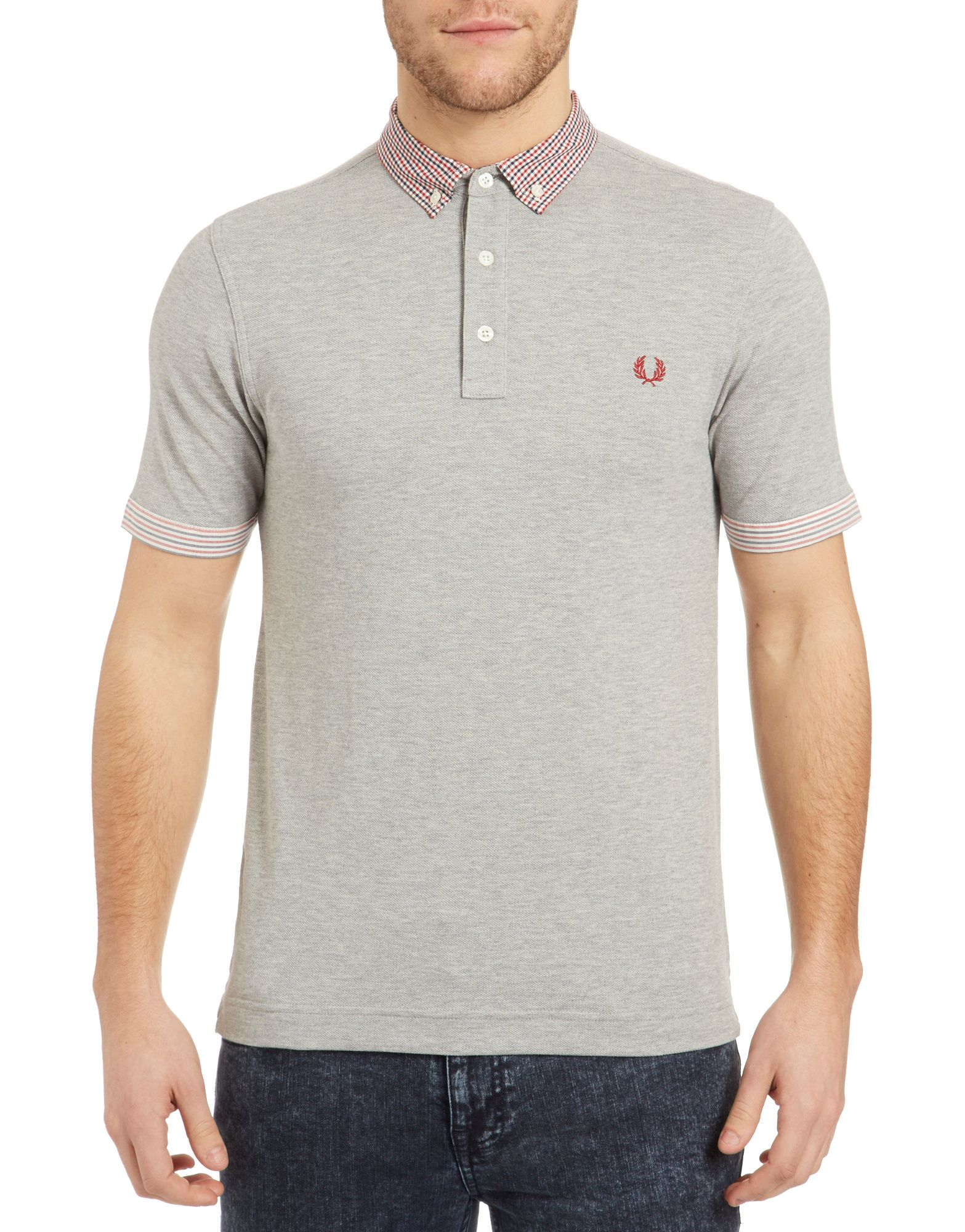 Fred Perry Gingham Trim Polo Shirt