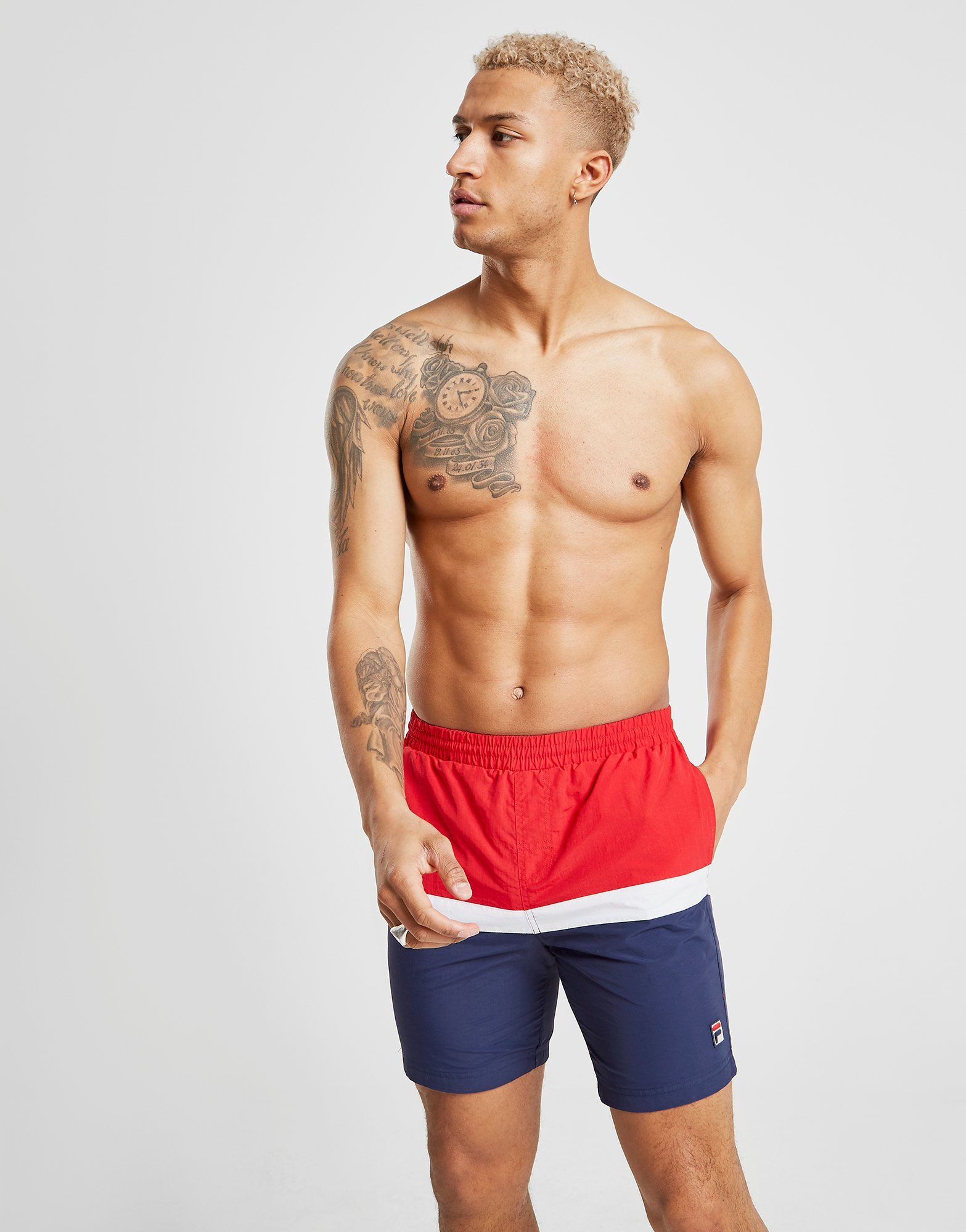 Fila Peter Colour Block Swim Shorts