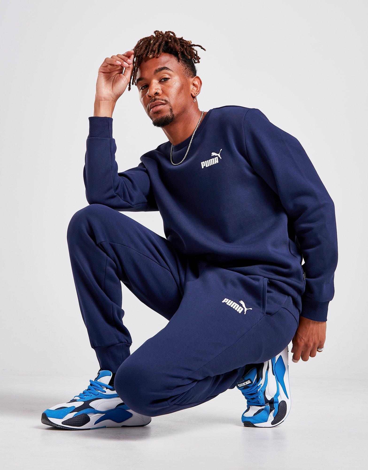 40dcc34d74 Details about New Puma Men's Core Fleece Joggers Blue