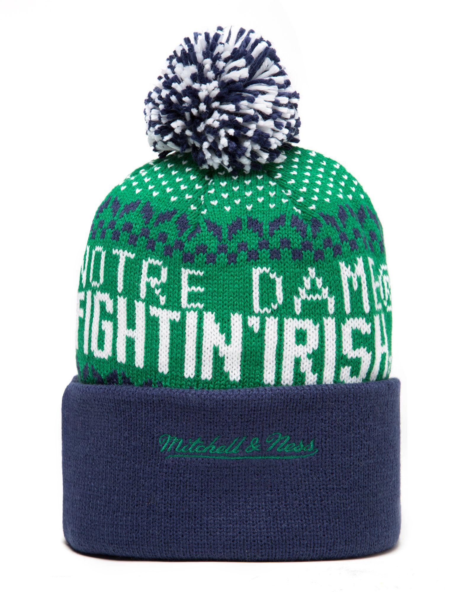 Mitchell & Ness Notre Dame Fightin' Irish Nujacq Bobble Hat