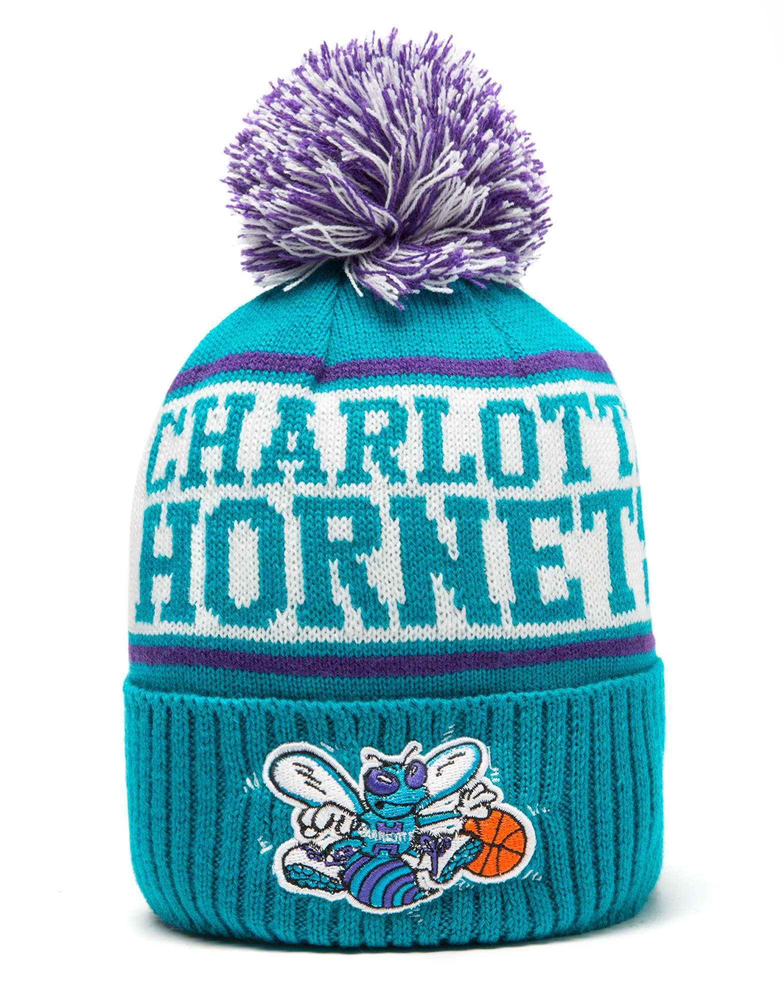 Mitchell & Ness NBA Charlotte Hornets Wordmark Bobble Hat