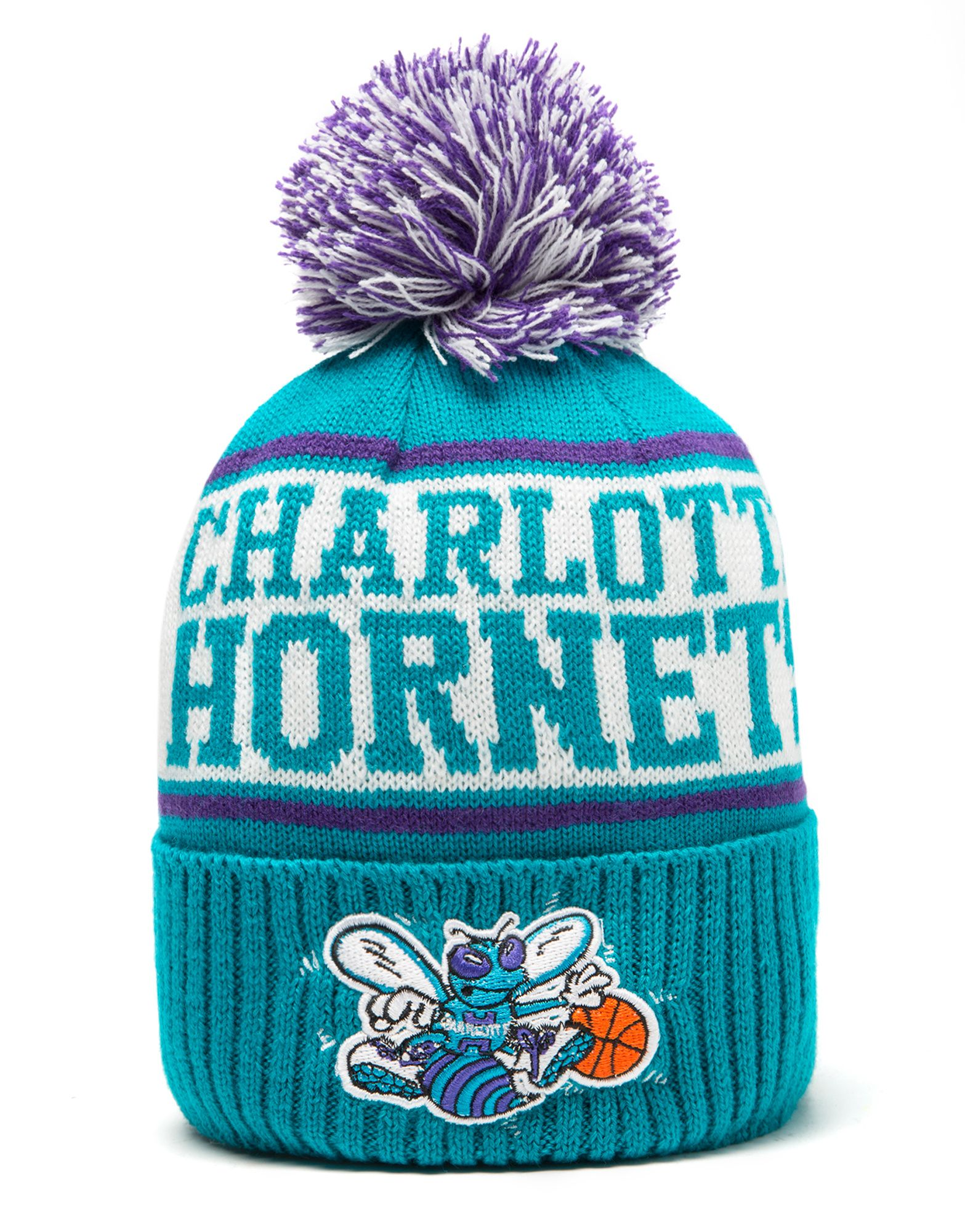 Mitchell & Ness NBA Charlotte Hornets Wordmark Bobble Hat
