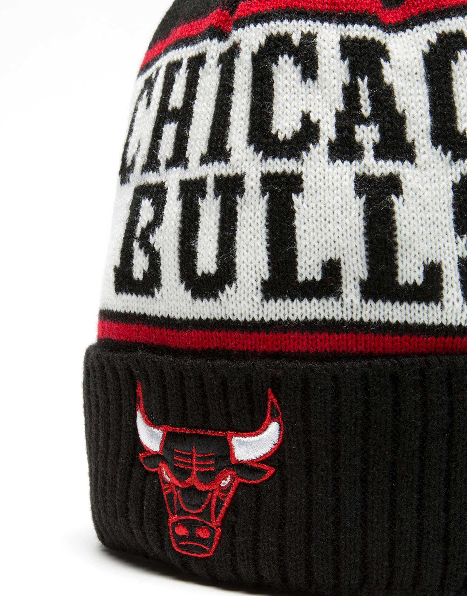 Mitchell & Ness NBA Chicago Bulls Wordmark Bobble Hat