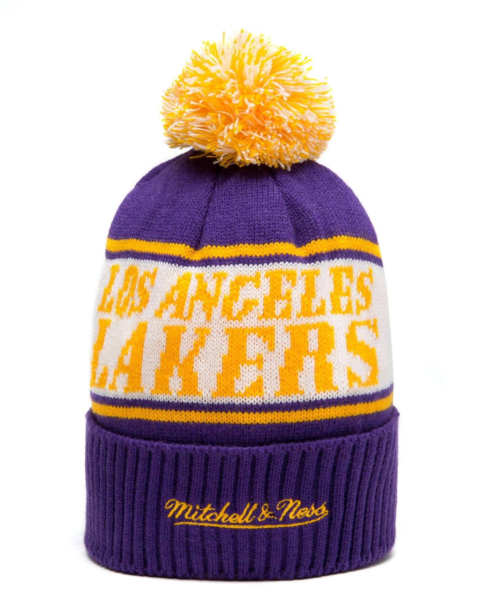Mitchell & Ness NBA Los Angeles Lakers Wordmark Bobble Hat