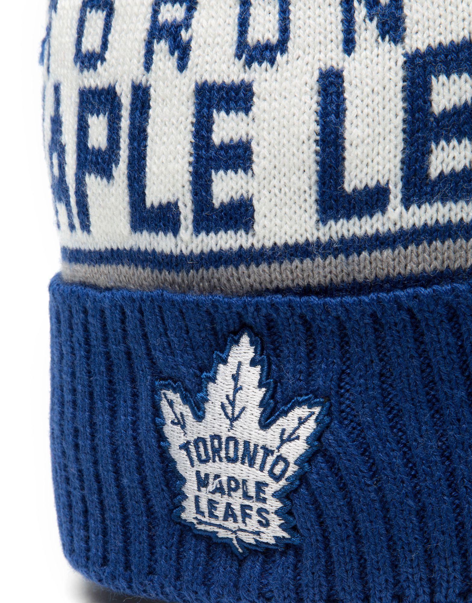 Mitchell & Ness NHL Toronto Maple Leafs Wordmark Bobble Hat