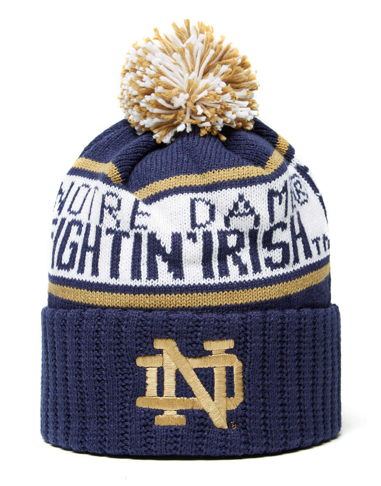 Mitchell & Ness Notre Dame Fighting Irish Wordmark Bobble Hat