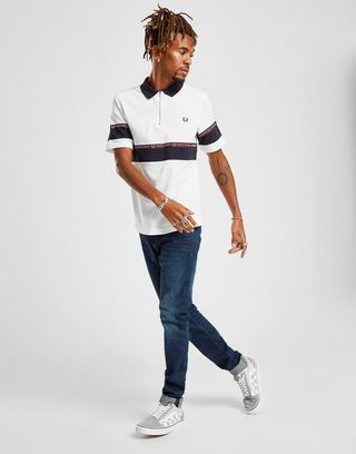 Fred Perry Colour Block Tape Polo Shirt