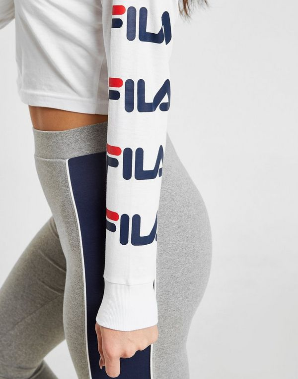 247da2ea47d Fila Repeat Logo Long Sleeve Crop T-Shirt Dames | JD Sports