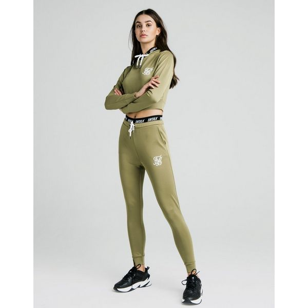SikSilk Tape Waist Poly Joggers Dames