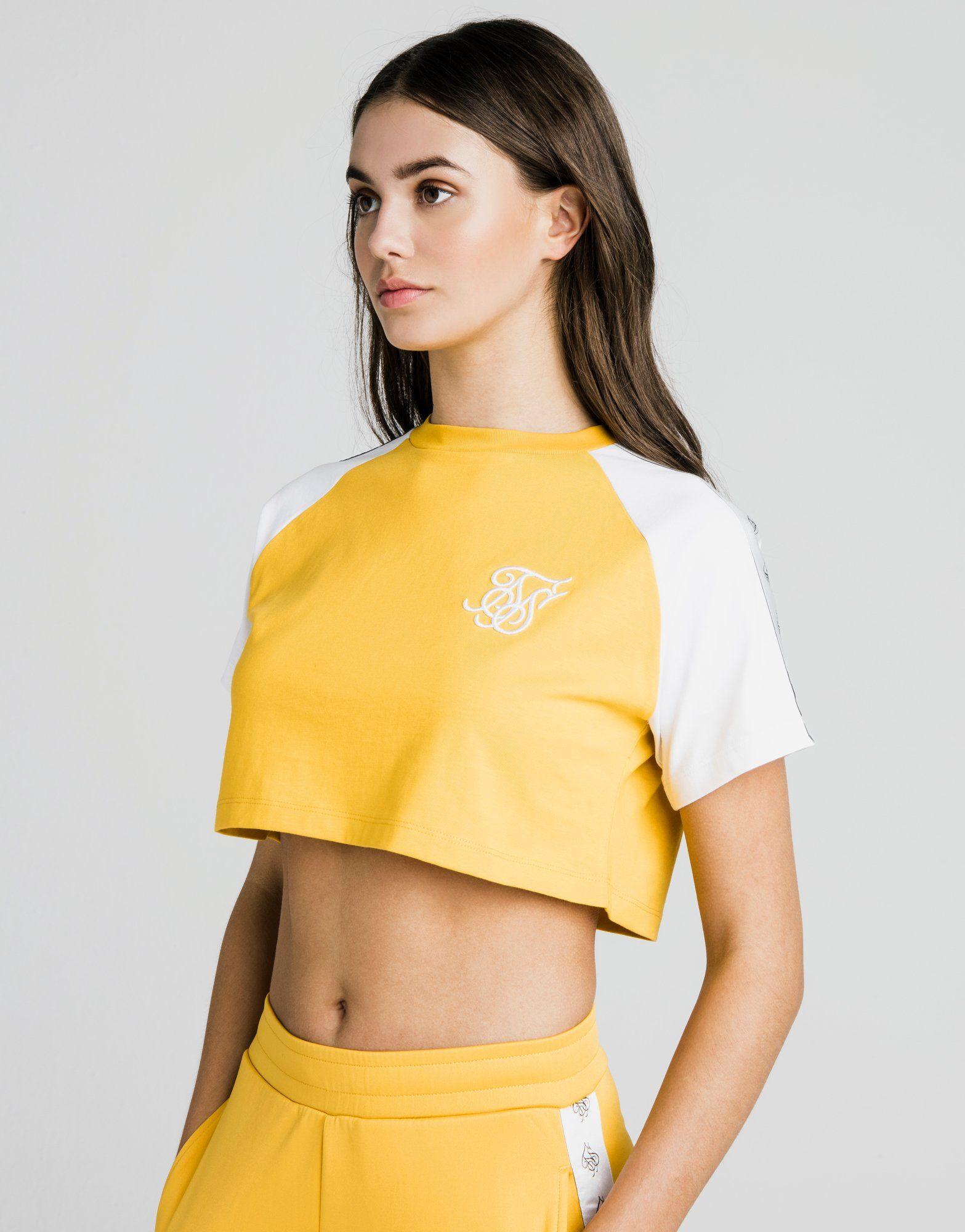 SikSilk Contrast Crop T-Shirt