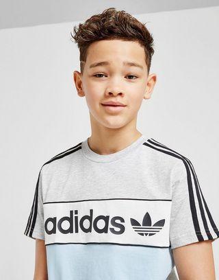 adidas Originals Linear Colour Block T-Shirt Junior