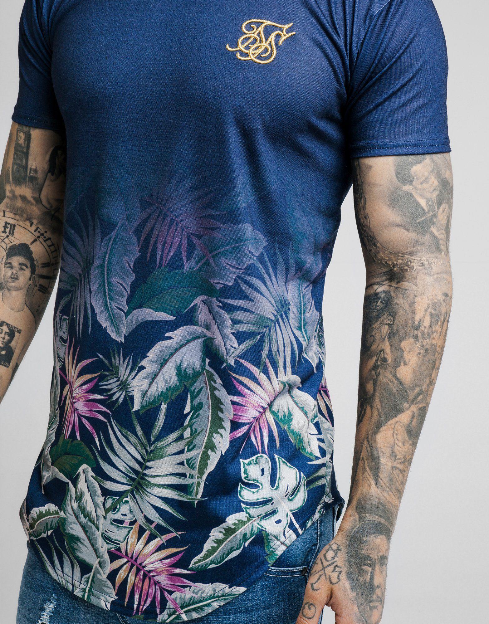 SikSilk Floral Fade T-Shirt