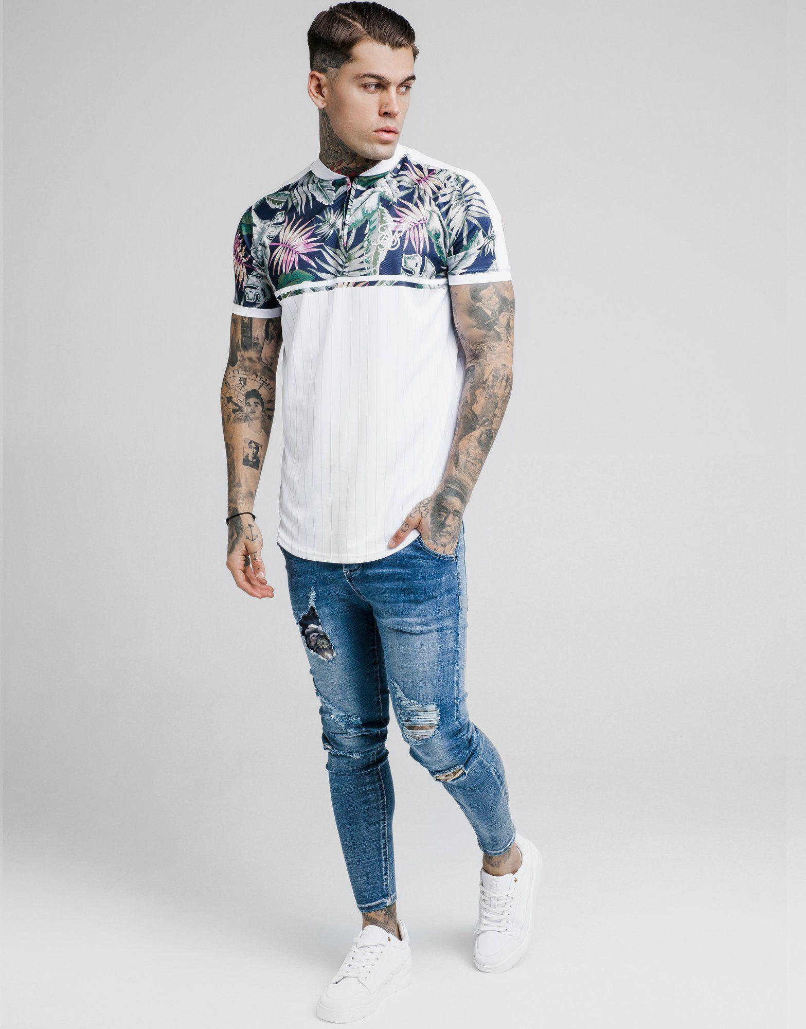 SikSilk Basketball Floral T-Shirt