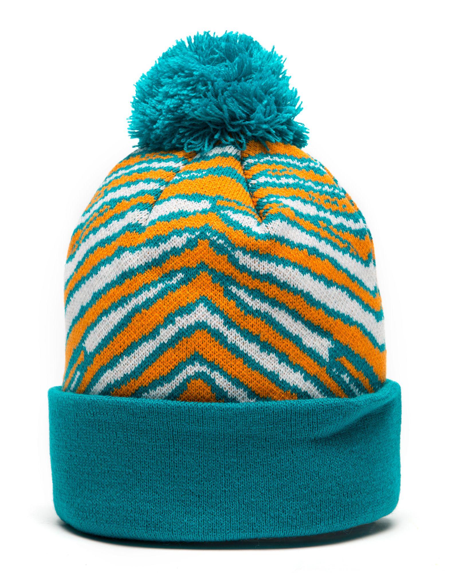 New Era NFL Miami Dolphins Zubaz Bobble Hat