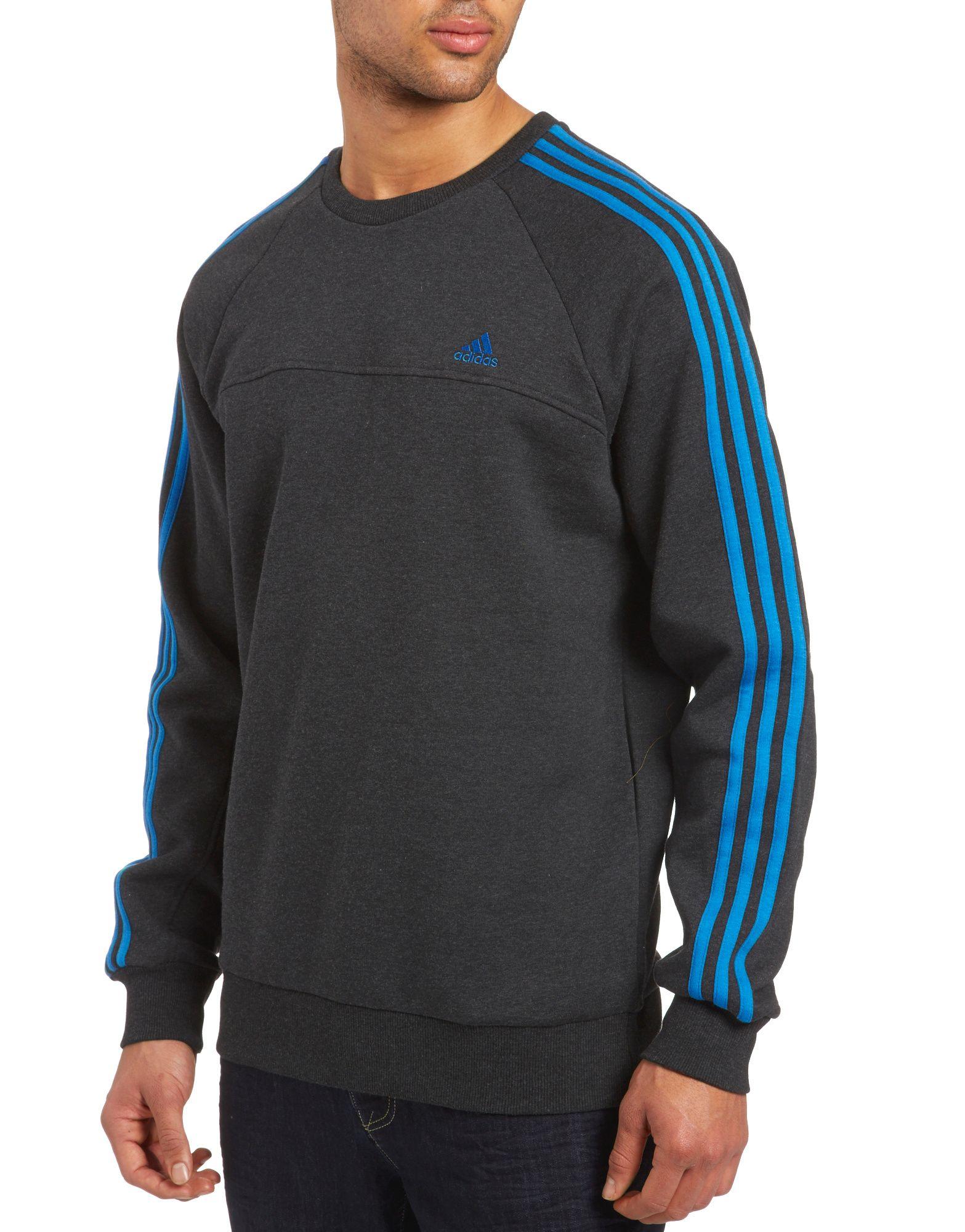 adidas 3 Stripe Essentials Crew Sweater