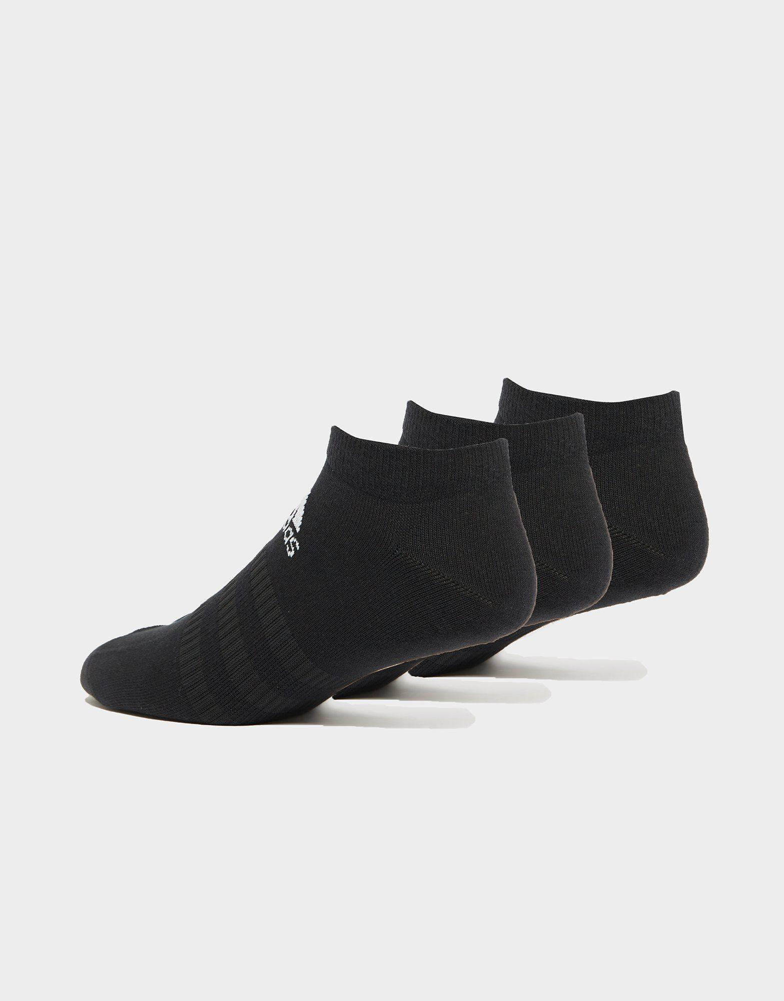 adidas 3er-Pack Füßlinge Schwarz