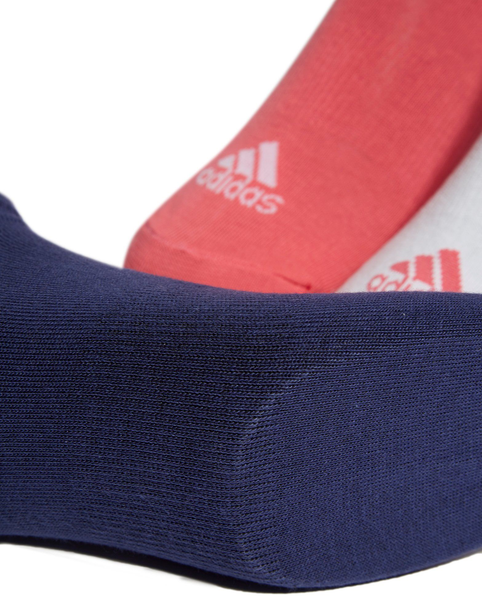 adidas 3 Pack Invisible Socks Pink