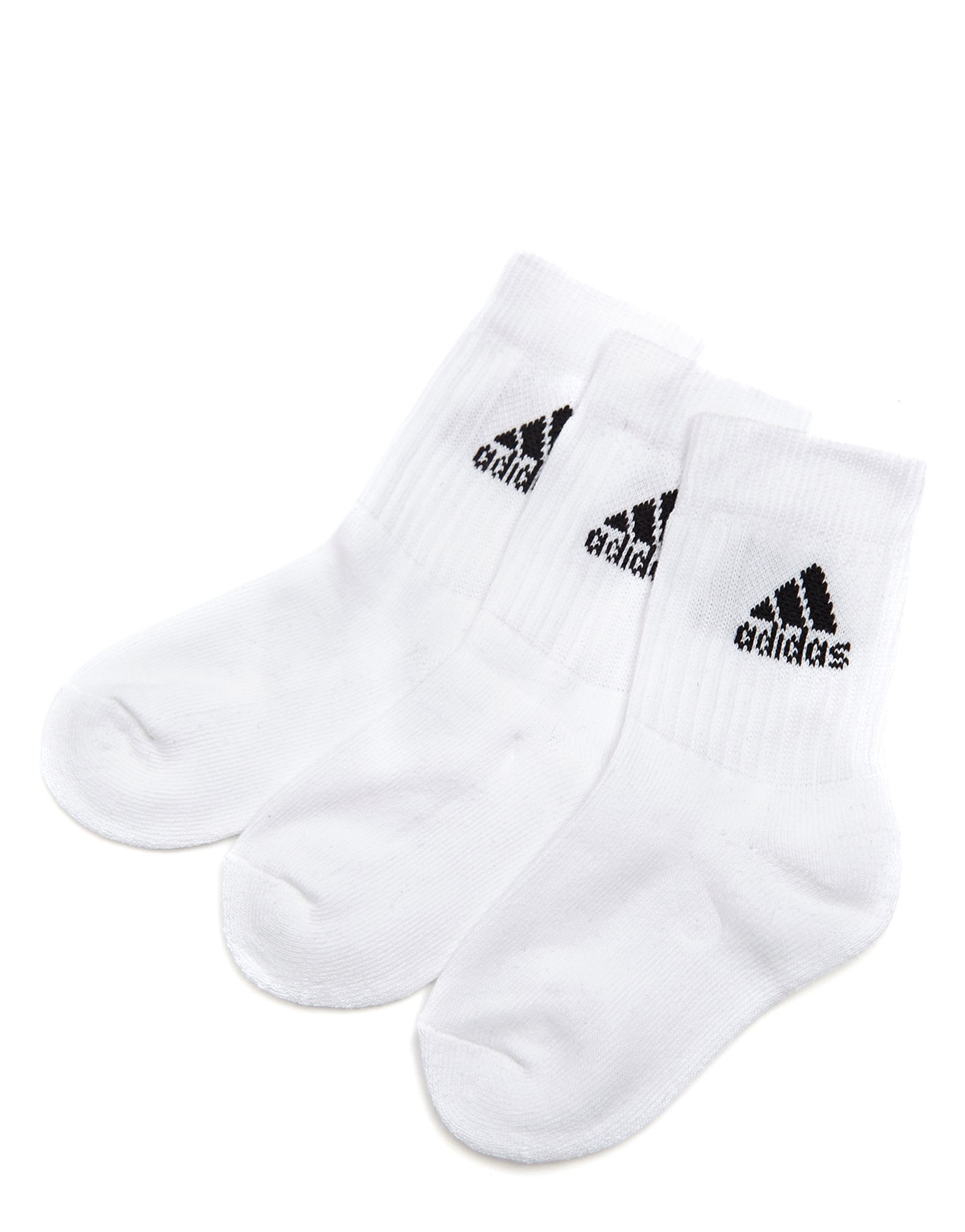 adidas 3 Pack Crew Sports Socks Junior