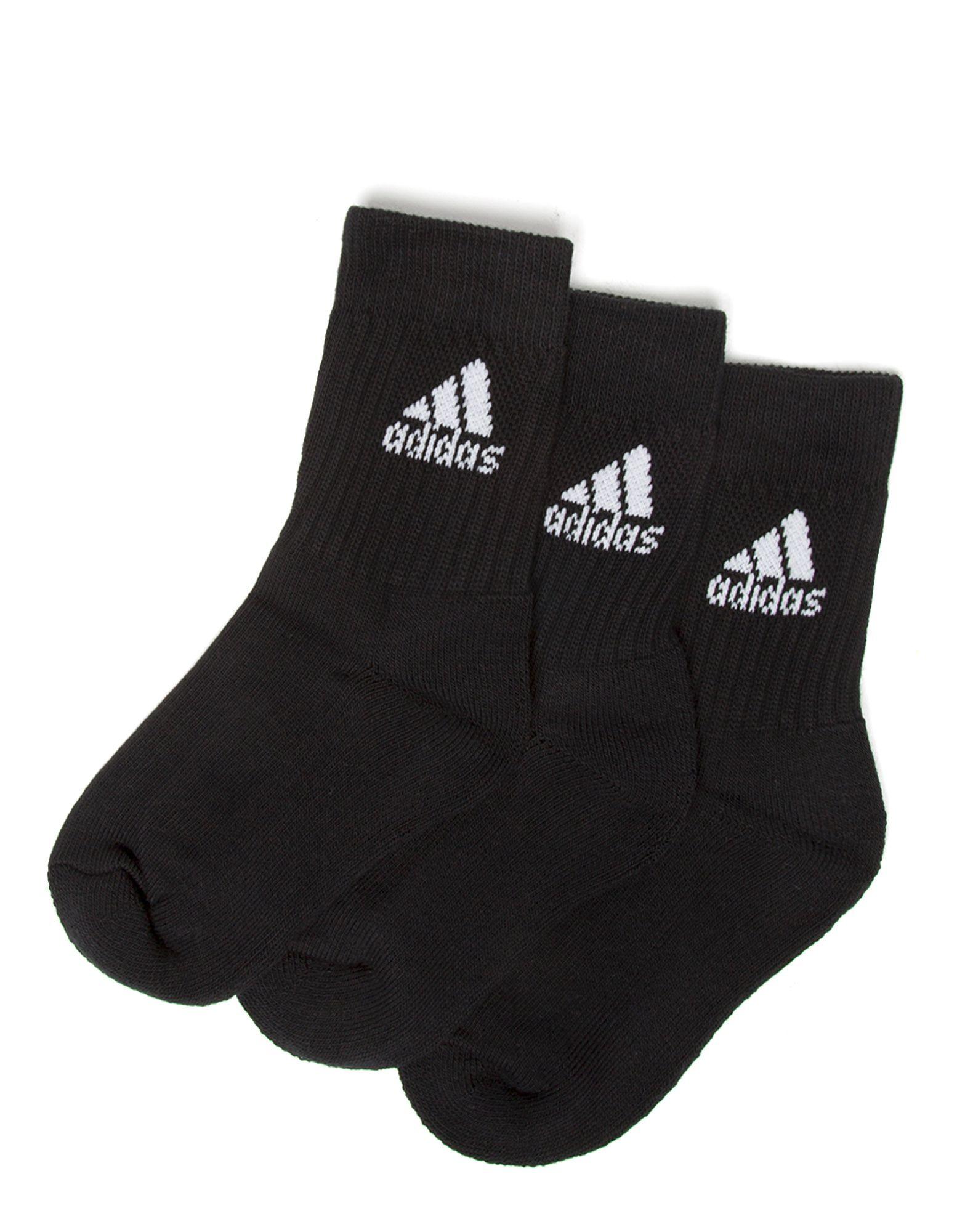 adidas 3 Pack Crew Sports Socks Junior