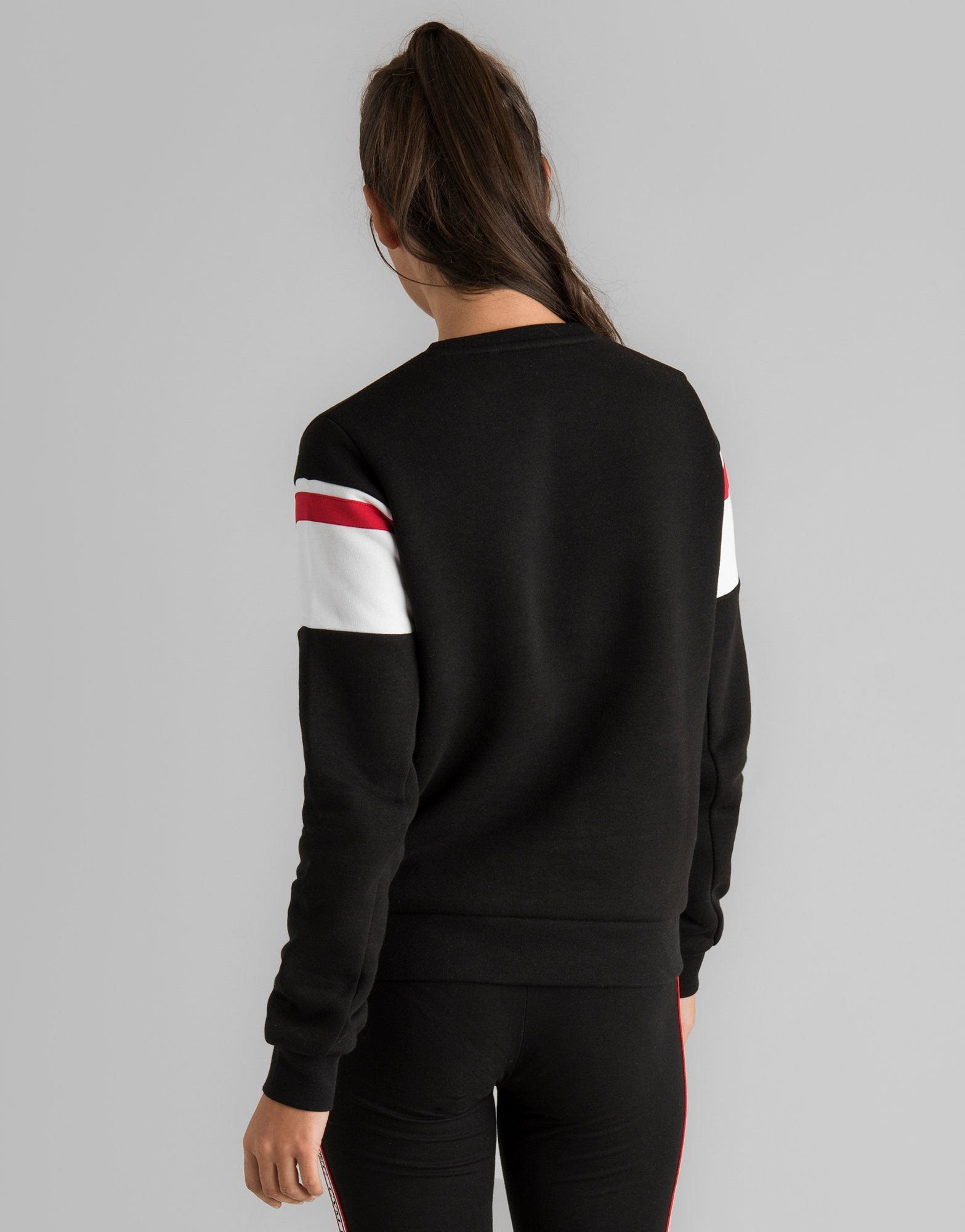 Gym King Stripe Logo Crew Sweatshirt