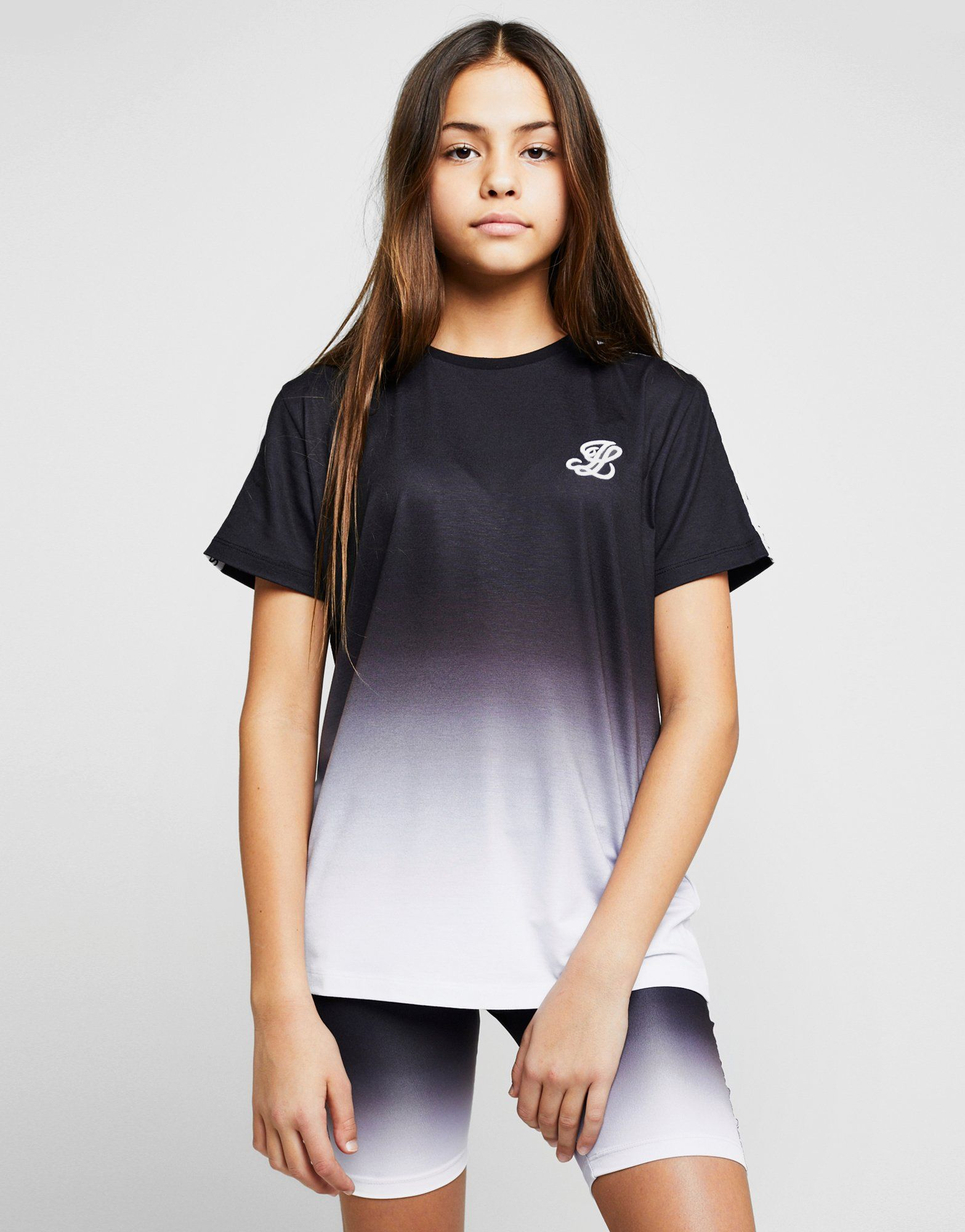 ILLUSIVE LONDON Girls' Tape Fade Boyfriend T-Shirt