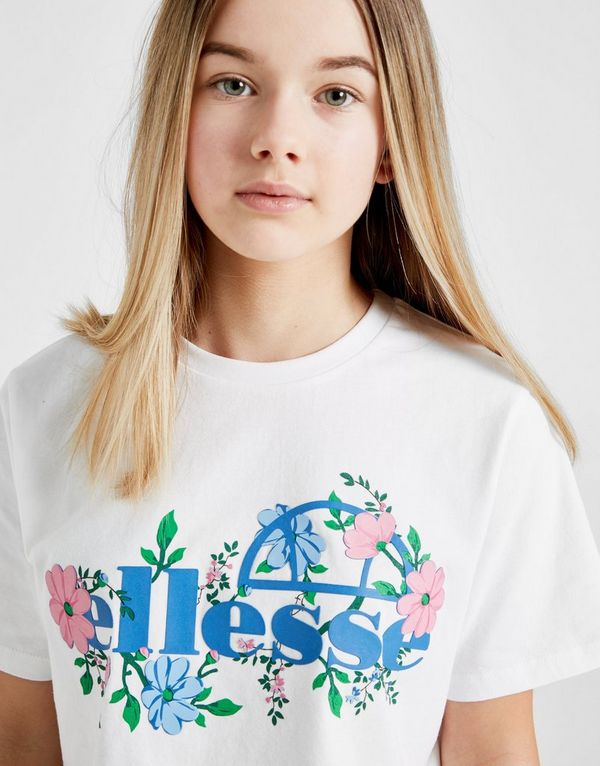 a3302cd718c1f6 Ellesse Girls  Crop Floral T-Shirt Junior