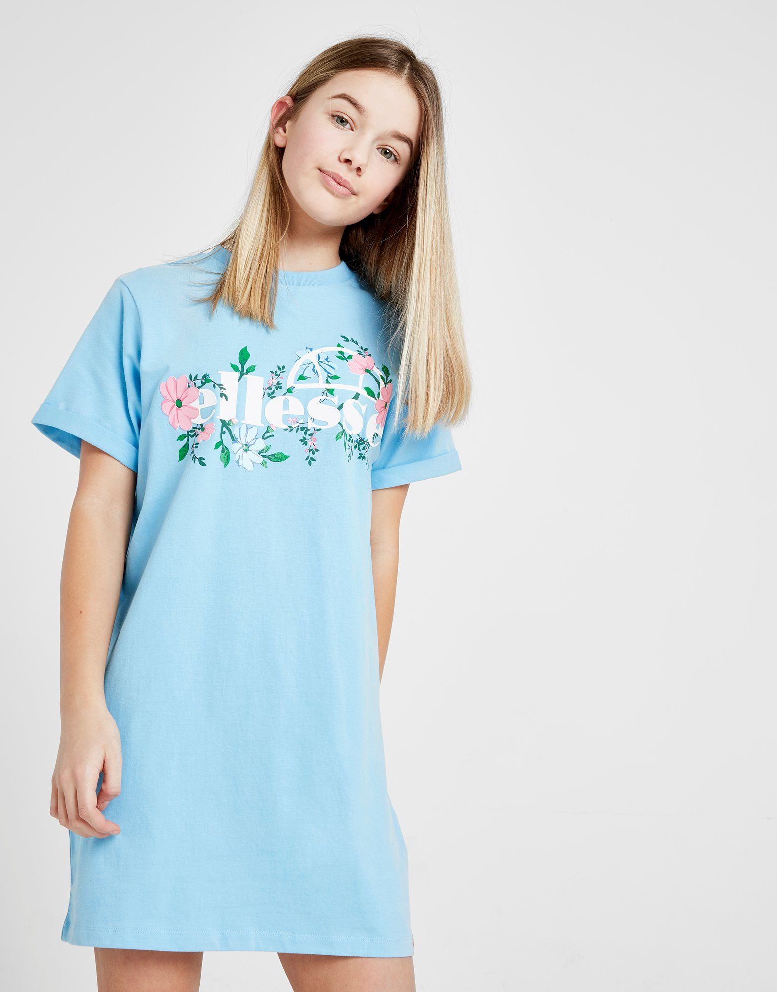Ellesse Girls' Floral T-Shirt Dress Junior
