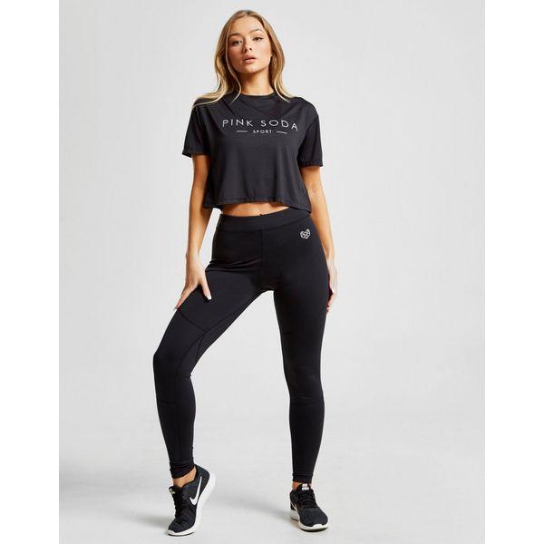 Pink Soda Sport Core Mesh Crop T-Shirt Dames