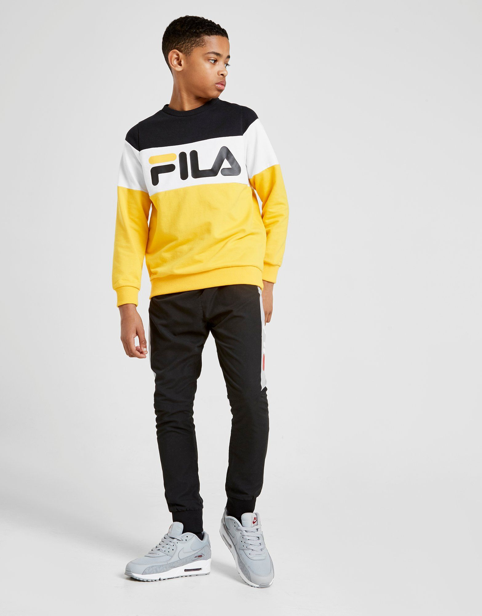 a03a24a17d9 Shoptagr | Fila Ryland Colour Block Crew Sweatshirt Junior by Fila