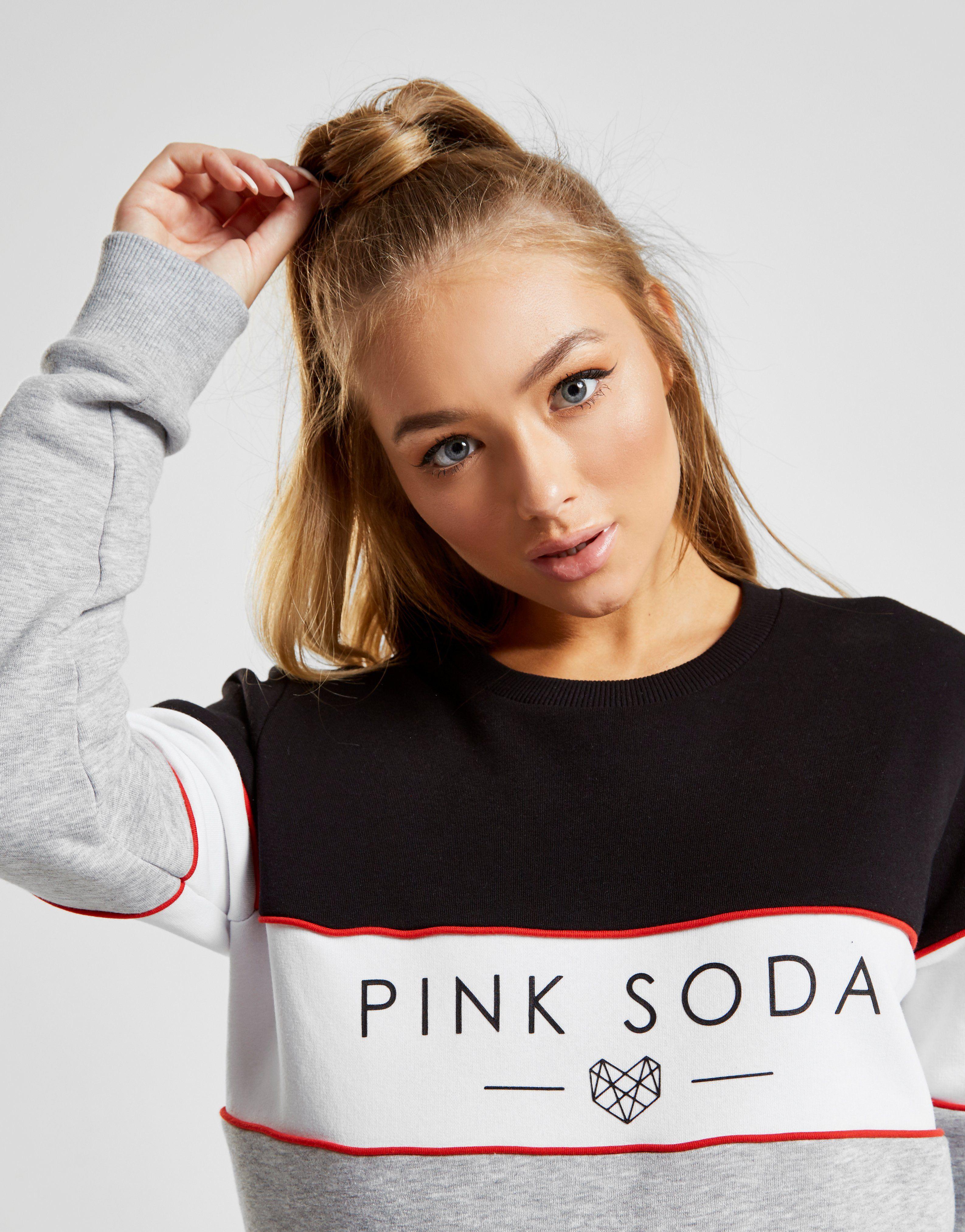 Pink Soda Sport sudadera Panel Colour Block Crew