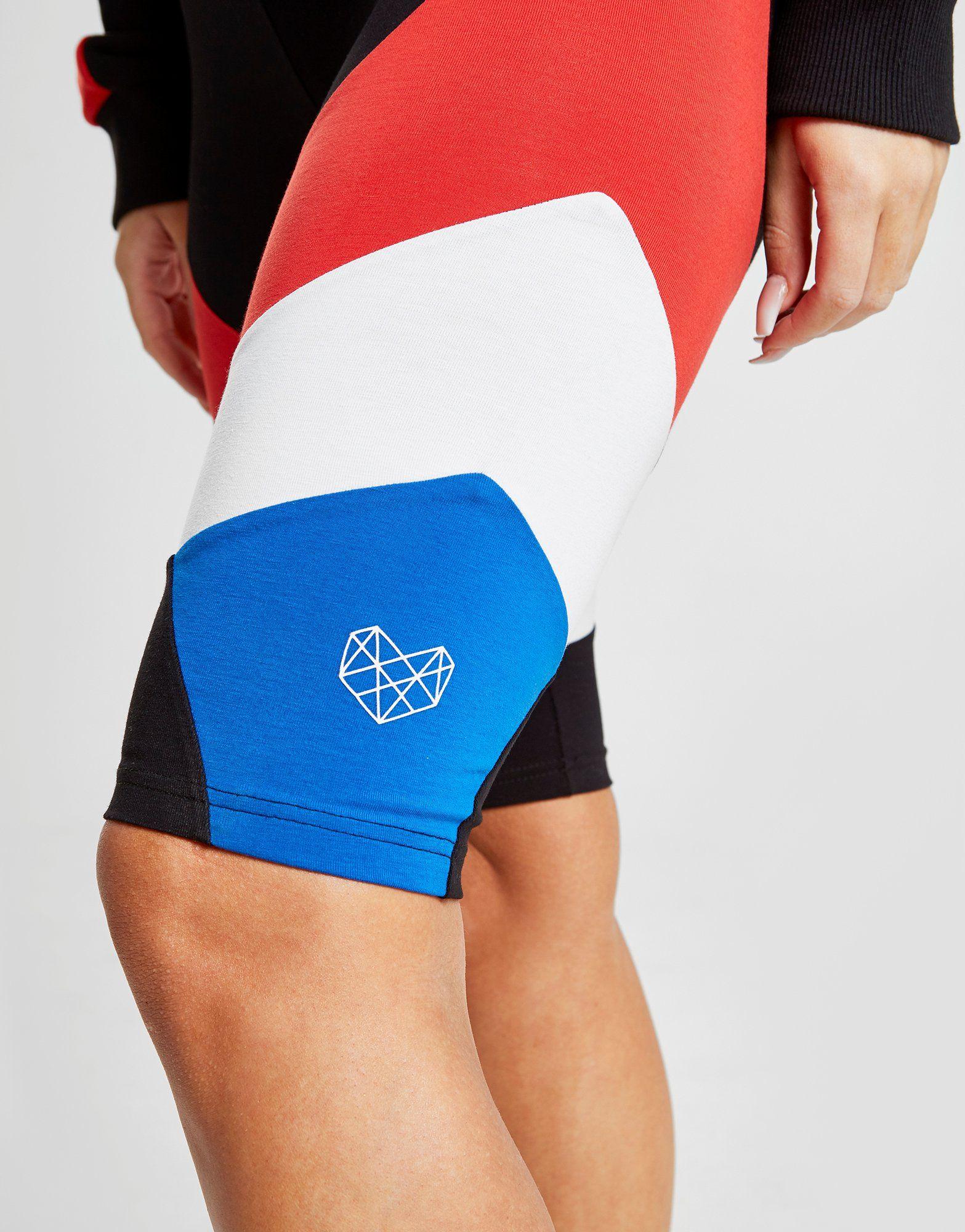 Pink Soda Sport Colour Block Cycling Shorts