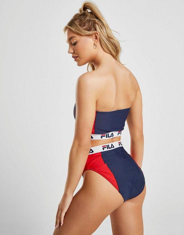 dae771c90c4 Fila Colour Block High Waist Bikini Bottoms   JD Sports