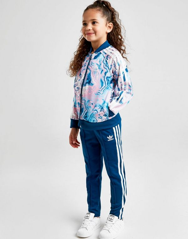 350cfe933f92 adidas Originals Girls  Marble SST Tracksuit Children