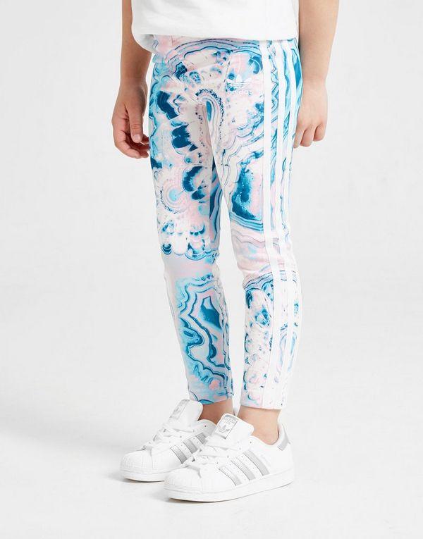 5fa64f2ad adidas Originals Girls  Marble All Over Print Leggings Children