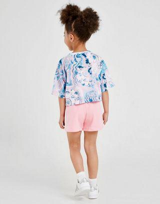 a few days away big sale newest adidas Originals Ensemble Fille T-shrt Marbre/Short Enfant ...