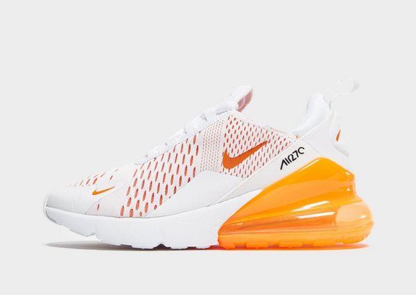 nike air max 270 junior white and orange