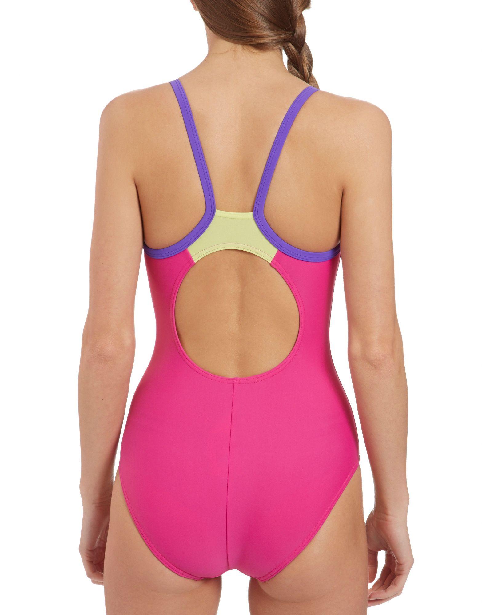 Speedo Powerflash Thin Strap Muscleback Swimsuit