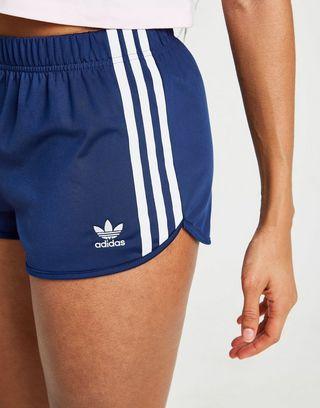 adidas Originals 3 Stripes Poly Shorts Dames   JD Sports