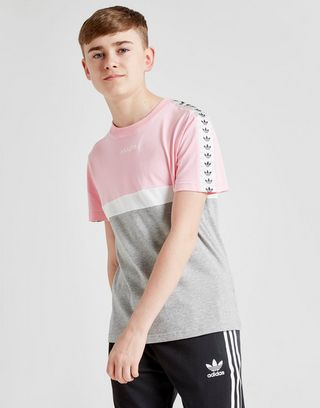 adidas Originals Colour Block Tape T-Shirt Junior
