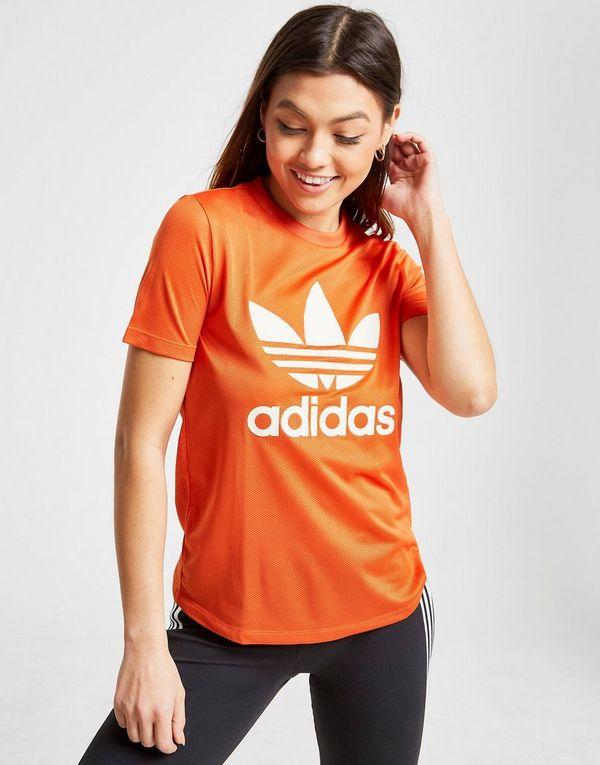 58d0f3c7baf4 adidas Originals T-shirt Trefoil Flock Femme